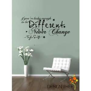 CHANGE Vinyl wall lettering stickers quotes and sayings home art decor