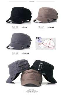 Nwt Military Army Cap Cadet Men Washed Hat Camo Flex Black Vintage