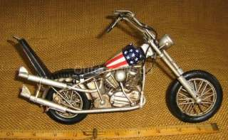 Metal Decorative Easy Rider Chopper Biker Motorcycle. Has Lots Of