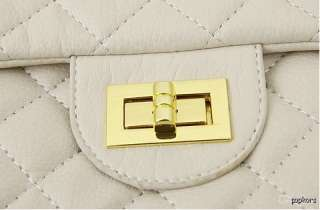 NEW Lady Quilted Gold Chain 2.55 Medium Handbags Shoulder Crossbody