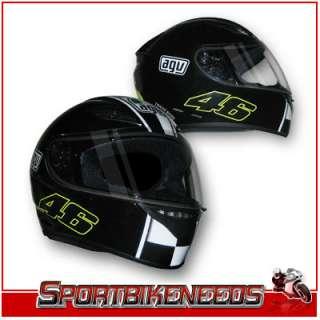 AGV VALENTINO ROSSI Black Celebr8 K3 Helmet XXLarge