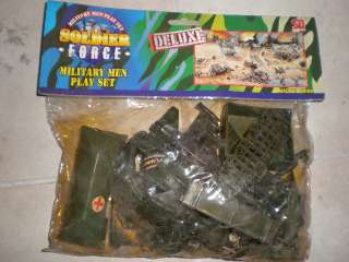 80s SOLDIER FORCE MILITARY MEN Plastic Toy Soldiers