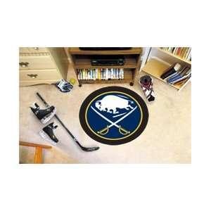 NHL Buffalo Sabres Rug Hockey Puck Mat