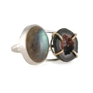 MELISSA JOY MANNING  Double Ring with Geode and