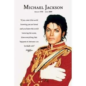 Michael Jackson Loved Memorial Poster