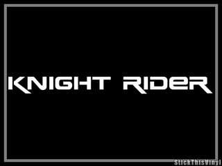 Knight Rider 2008 Mustang Kitt Decal Sticker (2x)