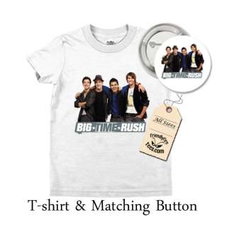 Big Time Rush T shirt & Button Combo 1