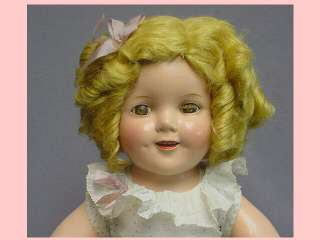 IDEAL 18 Shirley Temple Doll COMPOSITION ADORABLE original Outfit