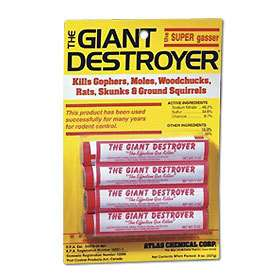 48 Giant Destroyer Smoke Bombs Kill Gophers Moles Rats Skunks Ground