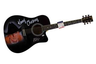 Kenny Chesney Autographed Signed Airbrush Guitar & Proof PSA UACC RD
