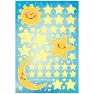 Fluorescent SUN STAR MOON Luminous KIDS Wall Sticker