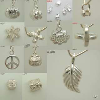 925 Sterling Silver charms Pendant BEADS FIT BRACELET smg