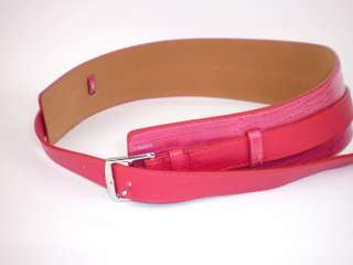 Chic Fashion Womens Wide Leather Waist Belt Black/Red