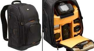 CASE LOGIC SLR Camera Laptop Backpack w/ Shelves BLACK 085854206594