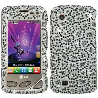 DIAMOND BLING CRYSTAL FACEPLATE CASE COVER LG CHOCOLATE TOUCH