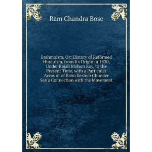 Babu Keshub Chunder Sens Connection with the Movement Ram Chandra
