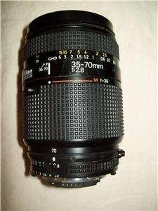 Nikon AF Nikkor 35 70mm 12.8 Camera Lens Auto Focus & Lens Caps