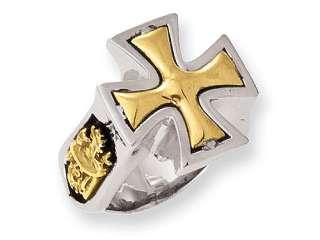Ed Hardy Bronze Maltese Cross Ring