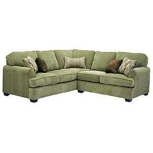 Transitional Left Sofa Section in Plush Soft Chenille Fabric 4332 62