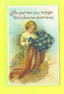 VETERANS DAY POSTCARD SIGNED CLAPSADDLE GLASS BEADED