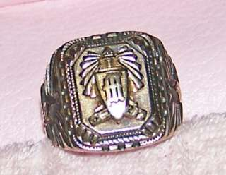 Vintage 1935 High School Class Ring Art Deco