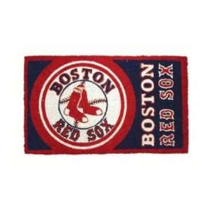 30 MLB Boston Red Sox Natural Coir Fiber Welcome Mat Home & Kitchen