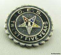 ORDER EASTERN STAR   Masonic OES Lot 2 Pins 1 Charm