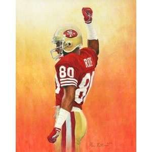 Jerry Rice San Francisco 49ers Small Giclee: Sports