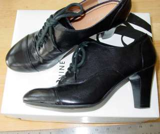 Womens Roothy Dress Oxford Shoes 7 M –black leather lace up shootie