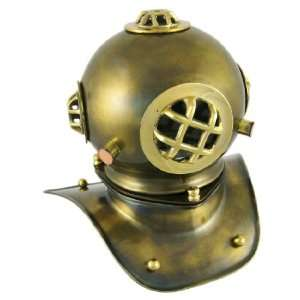 Brass Navy Diving Helmet Replica 8 Inch Mark V Bell Home & Kitchen
