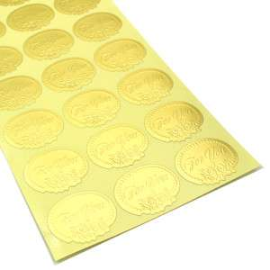 Gold For You Gift Seals Sealed Set 2 Sheets 84 Stickers