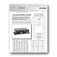 Jensen Transformers PC 2XR User Manual   click to download PDF
