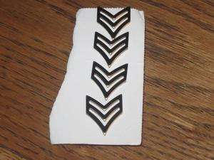 Vintage Army Sergeant Sgt Rank Pin Marked G G1 Lot of 4