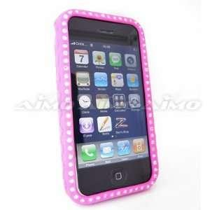 Apple iPhone 3G Premium Diamond Skin Case, Hot Pink 005