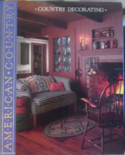 Country Decorating American Country Time Life Book Vtg