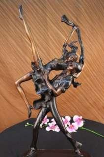 Signed Juleus Erte Couple doing Lindy Hop Dancing Sculpture Statue