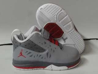 Nike Air Jordan CP3.v Gray Red Sneakers Infant Toddler Size 8.5
