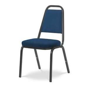 Virco® 8925 Crowned Seat Straight Back Stack Chair Black