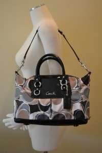 Coach Hand Drawn Scarf Print Ashley Satchel Handbag 17650 NWT Patent