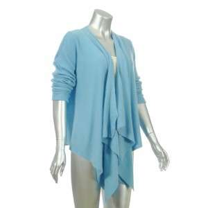 Sutton Studio Womens Blue Cashmere No Close Cardigan L