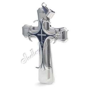 Men Stainless Steel Pendant Celtic Cross Necklace Chain