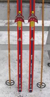 Cross Country 70 Skis 3 pin 180 cm +Poles TOURING WAXLESS