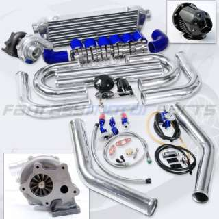 UNIVERSAL T3 T04E T3/T4 TURBO KIT .57AR TURBO CHARGER INTERCOOLER 2.5
