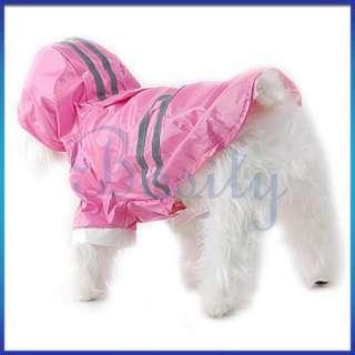 New Pet Dog Rain Coat Hoodie Hooded Raincoat Clothes Apparel All Size