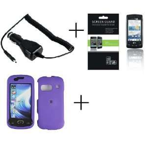 SAMSUNG CRAFT SCH R900 Purple Rubberized Hard Protector Case + PREMIUM