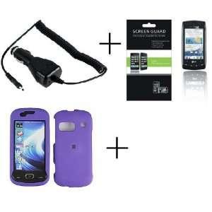 SAMSUNG CRAFT SCH R900 Purple Rubberized Hard Protector Case + PREMIUM