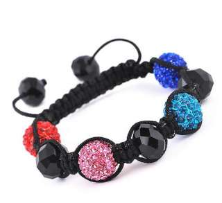 12MM 13Colors Disco Crystal Ball Beads DIY Braid Paver Charms Bracelet