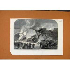 Fatal Railway Accident Kentish Town C1861 Old Print: Home