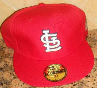 St Louis Cardinals Fitted Cap/Hat, Size 7, Red, with 2011 World Series