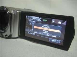 Clean Silver Sony Handycam DCR SX44 4GB Digital Camcorder 027242788916